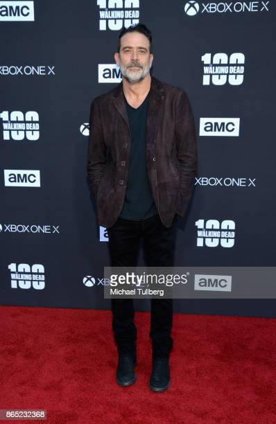 Actor Jeffrey Dean Morgan attends AMC's celebration of the 100th episode of 'The Walking Dead' at The Greek Theatre on October 22 2017 in Los Angeles...