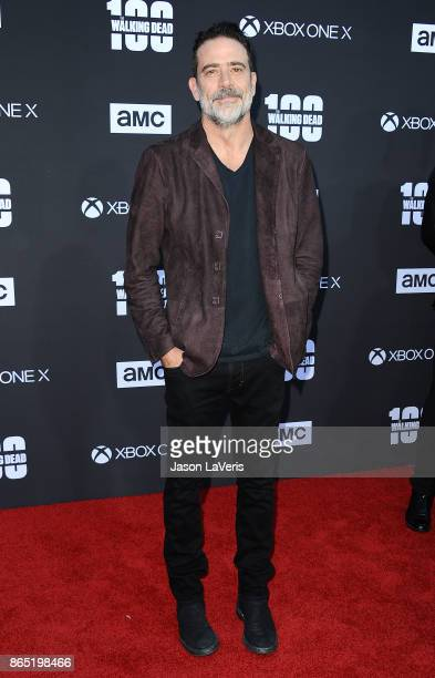 Actor Jeffrey Dean Morgan attends the 100th episode celebration off 'The Walking Dead' at The Greek Theatre on October 22 2017 in Los Angeles...