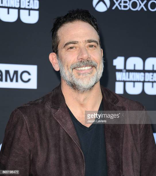 "Actor Jeffrey Dean Morgan attends the 100th episode celebration off ""The Walking Dead"" at The Greek Theatre on October 22, 2017 in Los Angeles,..."