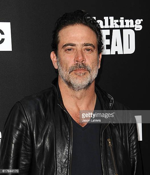 Actor Jeffrey Dean Morgan attends the live 90minute special edition of 'Talking Dead' at Hollywood Forever on October 23 2016 in Hollywood California