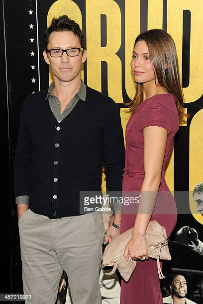 """Actor Jeffrey Donovan and actress Michelle Woods attend the """"Grudge Match"""" screening benefiting the Tribeca Film Insititute at Ziegfeld Theater on..."""