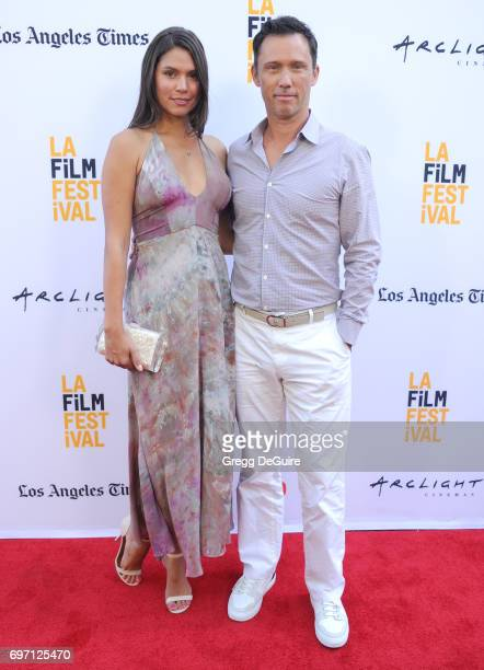 """Actor Jeffrey Donovan and Michelle Woods arrive at the 2017 Los Angeles Film Festival - Gala Screening Of """"Shot Caller"""" at Arclight Cinemas Culver..."""