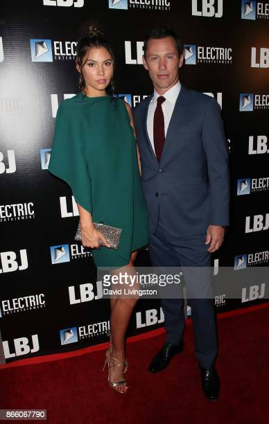 Actor Jeffrey Donovan and Michelle Woods attend the premiere of Electric Entertainment's LBJ at ArcLight Hollywood on October 24 2017 in Hollywood...
