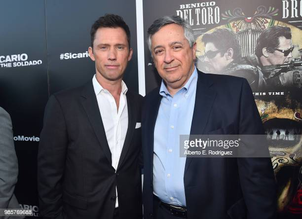 Actor Jeffrey Donovan and Tony Vinciquerra Chairman and Chief Executive Officer Sony Pictures Entertainment attend the premiere of Columbia Pictures'...