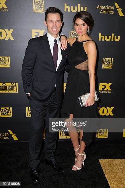 Actor jeffrey donovan and wife michelle woods attend Fox And FX's 2016 Golden Globe Awards Party on January 10, 2016 in Beverly Hills, California