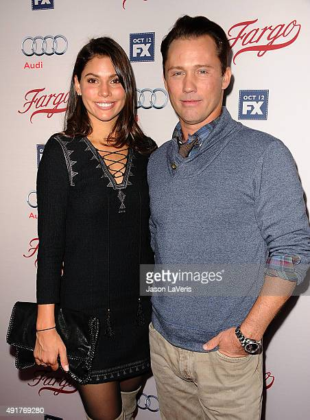 Actor Jeffrey Donovan and wife Michelle Woods attend the premiere of FX's Fargo season 2 at ArcLight Cinemas on October 7 2015 in Hollywood California