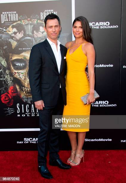 Actor Jeffrey Donovan and wife Michelle Woods attend the premiere of Columbia Pictures' Sicario Day of the Soldado on June 26 in Westwood California