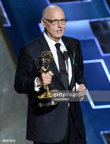 Actor Jeffrey Tambor accepts an award onstage during the 67th Annual Primetime Emmy Awards at Microsoft Theater on September 20 2015 in Los Angeles...