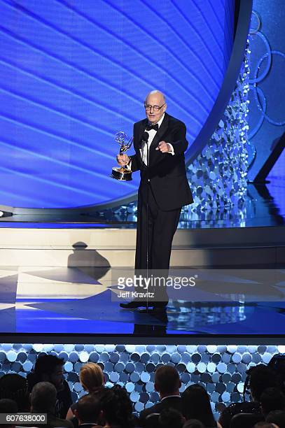 Actor Jeffrey Tambor accepts the award of Outstanding Lead Actor in a Comedy Series for 'Transparent' onstage during the 68th Annual Primetime Emmy...