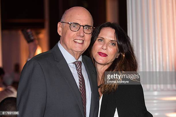 Actor Jeffrey Tambor and actress Amy Landecker attend the 12th Annual Outfest Legacy Awards at Vibiana on October 23 2016 in Los Angeles California