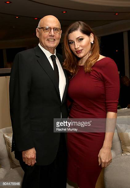 Actor Jeffrey Tambor and Actress Trace Lysette attend Amazon's Golden Globe Awards Celebration at The Beverly Hilton Hotel on January 10 2016 in...