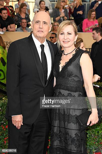 Actor Jeffrey Tambor and Kasia Ostlun attend The 23rd Annual Screen Actors Guild Awards at The Shrine Auditorium on January 29, 2017 in Los Angeles,...