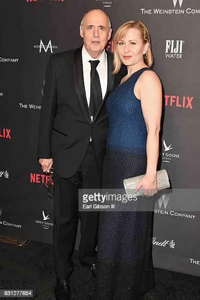 Actor Jeffrey Tambor and Kasia Tambor attend The Weinstein Company and Netflix Golden Globe Party presented with FIJI Water Grey Goose Vodka Lindt...