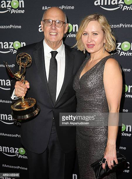 Actor Jeffrey Tambor and wife Kasia Ostlun attend Amazon Video's 67th Primetime Emmy Celebration at The Standard Hotel on September 20 2015 in Los...