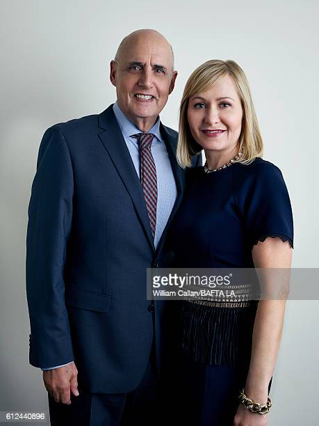 Actor Jeffrey Tambor and wife Kasia Ostlun pose for a portrait BBC America BAFTA Los Angeles TV Tea Party 2016 at the The London Hotel on September...