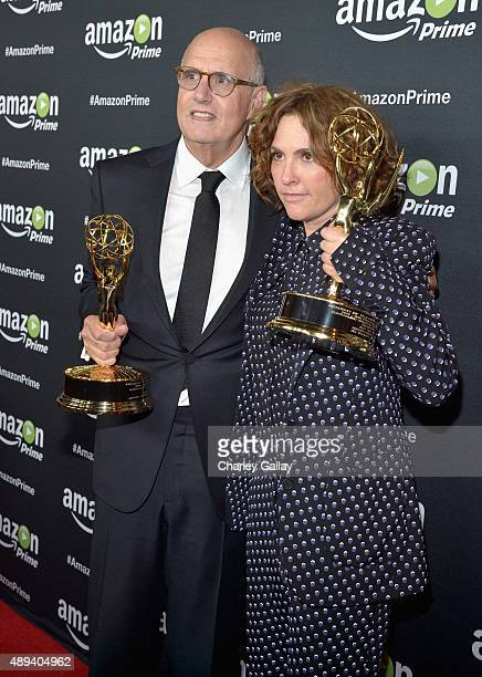 Actor Jeffrey Tambor and writer/executive producer Jill Soloway attend Amazon Prime's Emmy Celebration at The Standard Hotel on September 20 2015 in...