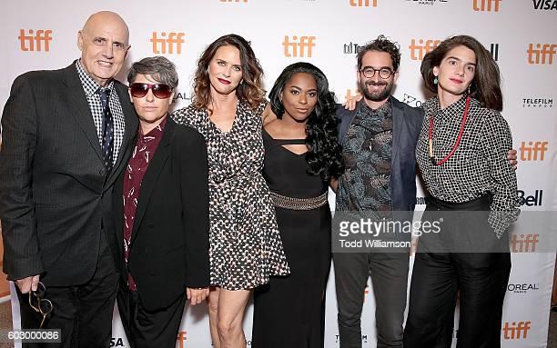Actor Jeffrey Tambor Jill Soloway Actress Amy Landecker Actress Alexandra Grey Actor Jay Duplass and Actress Gaby Hoffmann attend the Transparent...