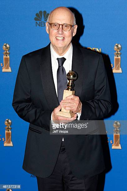 Actor Jeffrey Tambor poses in the press room during the 72nd Annual Golden Globe Awards at The Beverly Hilton Hotel on January 11 2015 in Beverly...