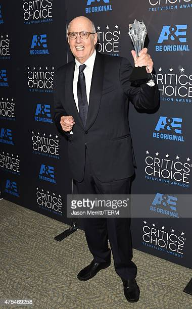Actor Jeffrey Tambor poses with the Best Actor in a Comedy Series award for Transparent in the press room at the 5th Annual Critics' Choice...