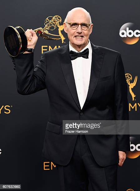 Actor Jeffrey Tambor winner of Best Actor in a Comedy Series for 'Transparent' poses in the press room during the 68th Annual Primetime Emmy Awards...