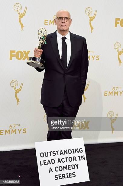 Actor Jeffrey Tambor winner of Outstanding Lead Actor in a Comedy Series for Transparent poses in the press room at the 67th Annual Primetime Emmy...
