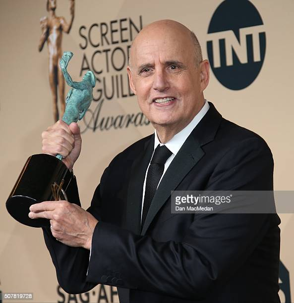 Actor Jeffrey Tambor winner of Outstanding Performance By a Male in a Comedy Series for 'Transparent' poses in the press room at the 22nd Annual...