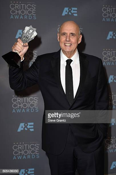 """Actor Jeffrey Tambor, winner of the award for Best Actor in a Comedy Series for """"Transparent,"""" poses in the press room during the 21st Annual..."""