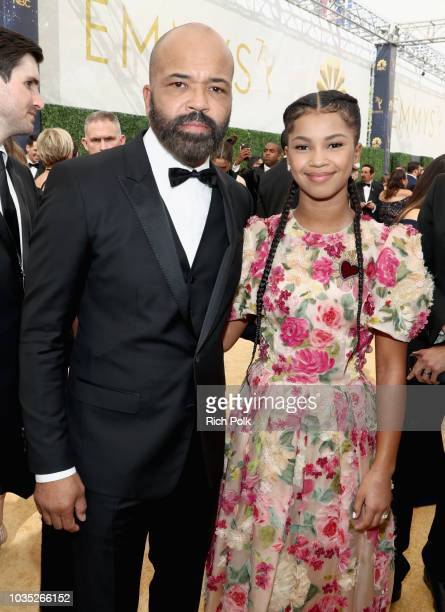 Actor Jeffrey Wright and Juno Wright attend the 70th Annual Primetime Emmy Awards at Microsoft Theater on September 17 2018 in Los Angeles California