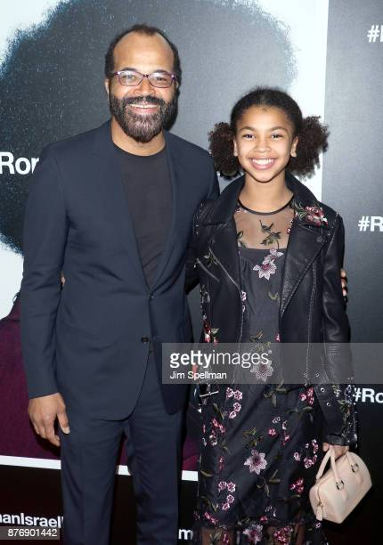 Actor Jeffrey Wright and Juno Wright attend theRoman J Israel Esquire New York premiere at Henry R Luce Auditorium at Brookfield Place on November 20...