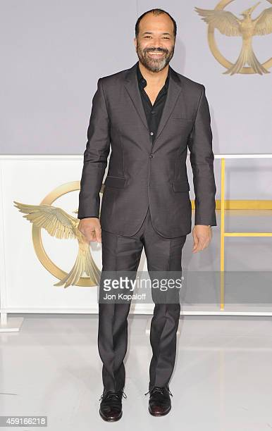Actor Jeffrey Wright arrives at the Los Angele Premiere 'The Hunger Games Mockingjay Part 1' at Nokia Theatre LA Live on November 17 2014 in Los...