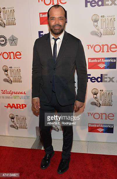 Actor Jeffrey Wright attends the 45th NAACP Awards NonTelevised Awards Ceremony at the Pasadena Civic Auditorium on February 21 2014 in Pasadena...