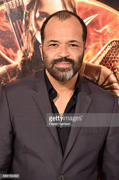 Actor Jeffrey Wright attends the premiere of Lionsgate's The Hunger Games Mockingjay Part 1 at Nokia Theatre LA Live on November 17 2014 in Los...
