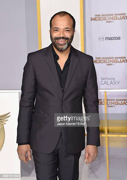 Actor Jeffrey Wright attends the Premiere of Lionsgate's 'The Hunger Games Mockingjay Part 1' at Nokia Theatre LA Live on November 17 2014 in Los...