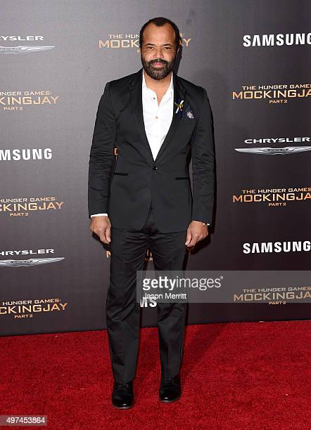 Actor Jeffrey Wright attends the premiere of Lionsgate's The Hunger Games Mockingjay Part 2 at Microsoft Theater on November 16 2015 in Los Angeles...