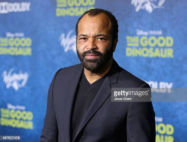 Actor Jeffrey Wright attends the World Premiere Of DisneyPixar's THE GOOD DINOSAUR at the El Capitan Theatre on November 17 2015 in Hollywood...