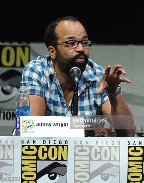 Actor Jeffrey Wright speaks onstage at the Lionsgate preview featuring I Frankenstein and The Hunger Games Catching Fire during ComicCon...