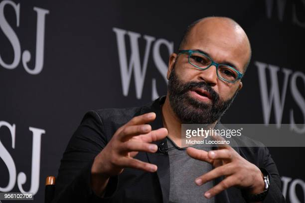 Actor Jeffrey Wright takes part in a panel during WSJ's The Future of Everything Festival at Spring Studios on May 8 2018 in New York City