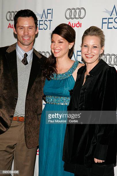 Actor Jeffrie Donovan actress Ashley Judd and director Joey Lauren Adams arrive at the AFI Film Festival premiere of the film Come Early Morning held...