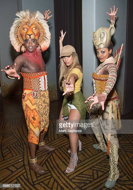 Actor Jelani Remy Fifth Harmony's Dinah Jane Hansen and Actress Adrienne Walker attend 'The Lion King' On Broadway at Minskoff Theatre on August 30...