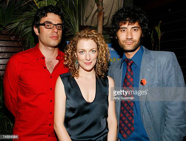 Actor Jemaine Clement actress Loren Horsley and director Taika Waititi attend the after party for the premiere of Eagle vs Shark at The Delancy June...