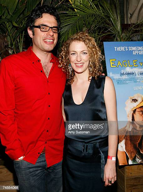 Actor Jemaine Clement and actress Loren Horsley attend the after party for the premiere of Eagle vs Shark at The Delancy June 11 2007 in New York City