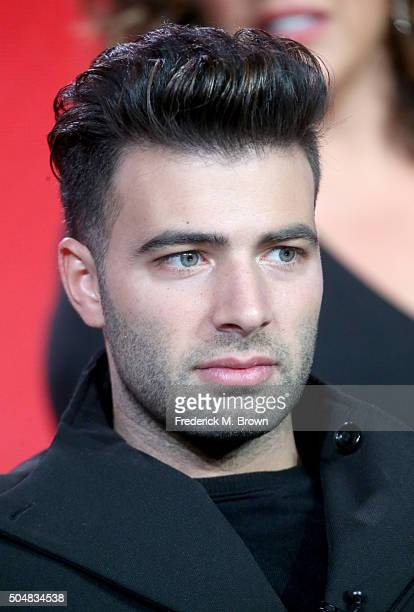 Actor Jencarlos Canela speaks onstage during the 'Telenovela' panel discussion at the NBCUniversal portion of the 2015 Winter TCA Tour at Langham...