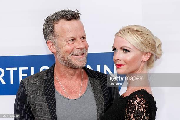 TV actor Jenke von Wilmsdorff and his girlfriend Mia Bergmann attend the Bertelsmann Summer Party at Bertelsmann Repraesentanz on September 8 2016 in...