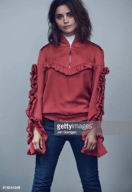 Actor Jenna Coleman is photographed for the Guardian on August 8 2016 in London England