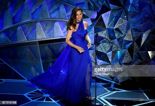 Actor Jennifer Garner speaks onstage during the 90th Annual Academy Awards at the Dolby Theatre at Hollywood Highland Center on March 4 2018 in...