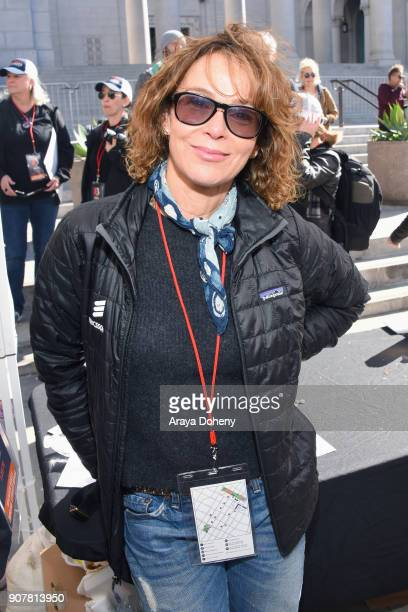 Actor Jennifer Grey at 2018 Women's March Los Angeles at Pershing Square on January 20 2018 in Los Angeles California