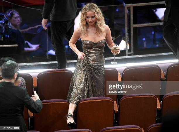 Actor Jennifer Lawerence in the audience during the 90th Annual Academy Awards at the Dolby Theatre at Hollywood Highland Center on March 4 2018 in...