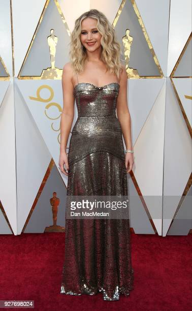 Actor Jennifer Lawrence attends the 90th Annual Academy Awards at Hollywood Highland Center on March 4 2018 in Hollywood California
