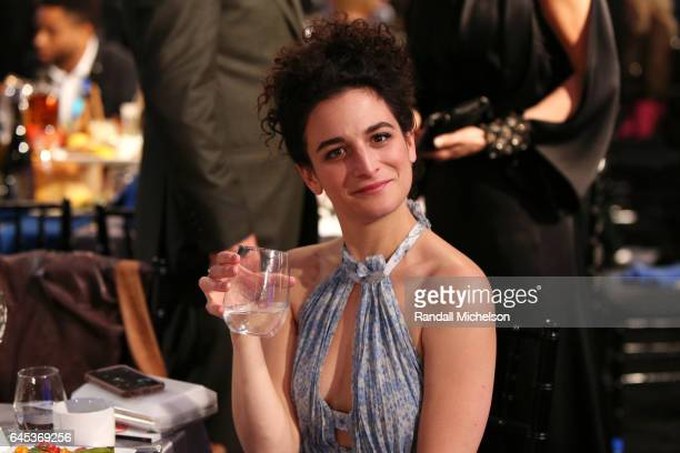 Actor Jenny Slate poses during the 2017 Film Independent Spirit Awards at the Santa Monica Pier on February 25 2017 in Santa Monica California