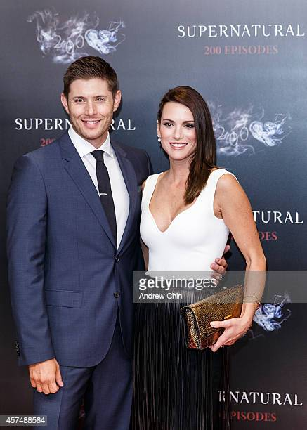 Actor Jensen Ackles and Actress Danneel Ackles celebrate the 200th episode of 'Supernatural' at Fairmont Pacific Rim Hotel on October 18 2014 in...